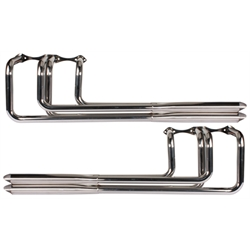 Speedway Small Block Chevy V8 Polished Stainless Steel Shotgun Headers