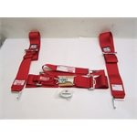 Garage Sale - Simpson 55 Inch 5 Point Racing Harness Sport Belt Combo, Red
