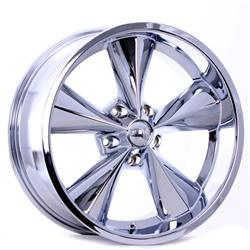 Boyds Wheels BC1-786545C Junkyard Dog 17x8 Chrome Wheel, 5 on 4-1/2