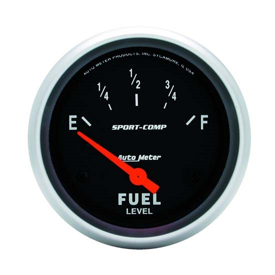 Auto Meter 3517 Sport-Comp Air-Core Electric Fuel Level Gauge, 2-5/8
