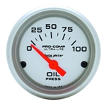Auto Meter 4327 Ultra-Lite Air-Core Oil Pressure Gauge, 100PSI, 2-1/16