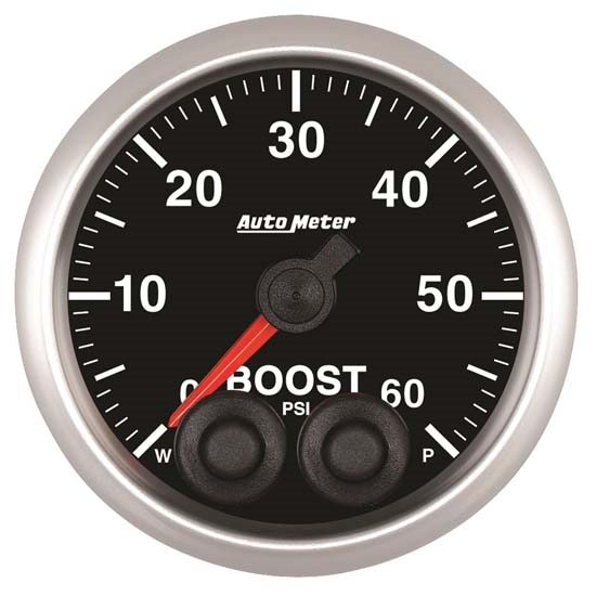Auto Meter 5670 Elite Digital Stepper Motor Boost Gauge, 2-1/16 Inch