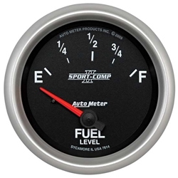 Auto Meter 7614 Sport-Comp II Air-Core Fuel Level Gauge, 2-5/8 Inch