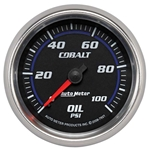 Auto Meter 7921 Cobalt Mechanical Oil Pressure Gauge, 2-5/8 Inch