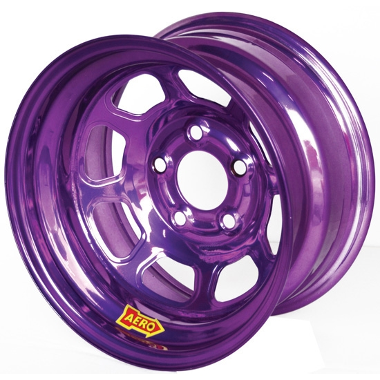 Aero 51-984530PUR 51 Series 15x8 Wheel, Spun, 5 on 4-1/2, 3 Inch BS