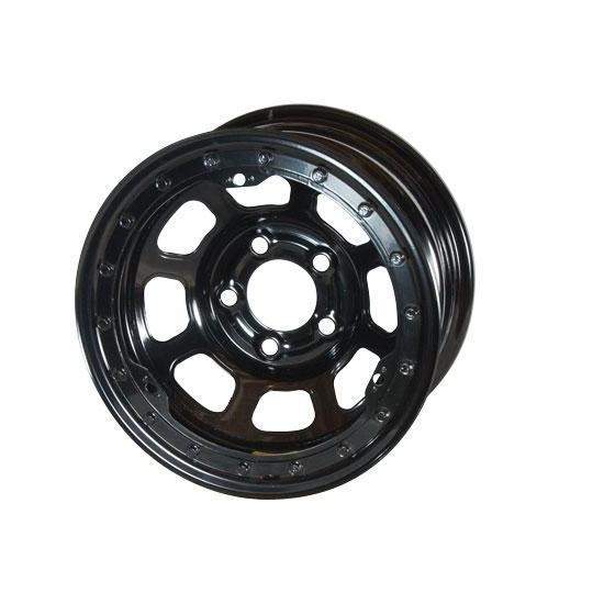 Bassett 52S54L 15X12 D-Hole Lite 5 on 5 4 Inch BS Black Beadlock Wheel