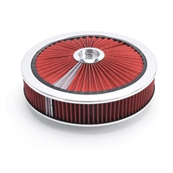 Edelbrock 43660 Pro-Flo High Flow Air Cleaner Assembly,Round,3in.,Red