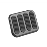Lokar XSG-6017 Midnight Series Steel XL Brake Pedal Pad w/Rubber