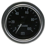 Stewart Warner 82323 Deluxe 2-2/16 Mech Oil Pressure Gauge, 5-100 PSI
