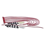 Taylor Cable 70251 8mm Spark Plug Wires, 90 Degree, Red, Resistor Core