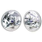 Speedway 7 Inch Tri-Bar Headlights w/ Clear Turn Signal Lens