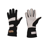 Speedway Black Nomex Racing Gloves, Size Small, SFI-1, Leather Palm