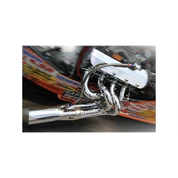 Garage Sale - Dynatech® Big Block Chevy Chrome Dragster Header Package, 2-1/4 - 2-3/8