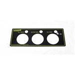 Garage Sale - Speedway 3 Gauge Panel for 3-3/8 Inch Gauges, OP/WT/OT