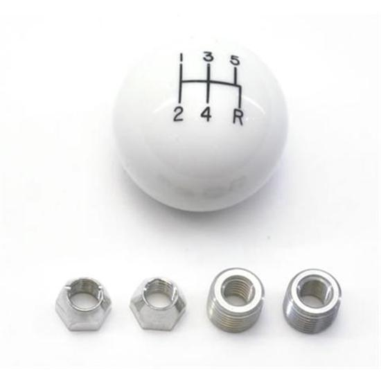 Lokar SK-6874 5 Speed White Manual Shift Knobs