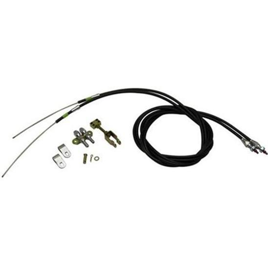 Lokar EC-81FU Floor Mount E-Brake Cables for Wilwood &amp; Ford Explorer