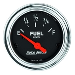 Auto Meter 2517 Traditional Chrome Air-Core Fuel Level Gauge, 2-1/16