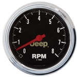 Auto Meter 880246 Jeep Air-Core In-Dash Tachometer Gauge, 3-3/8 Inch