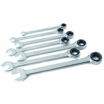 Titan Tools 17350 7-Piece Ratcheting Combination Wrench Set, SAE Sizes