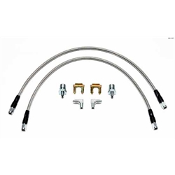 Wilwood 220-11237 22 Inch Flexline Brake Line Kit, 3/8-24 to 90 Degree