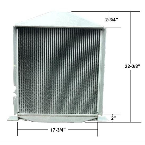 4-1/2 Inch Chopped 1932 Lo-Boy Aluminum Radiator