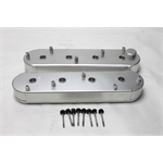 Garage Sale - Fab. Alum. LS/Vortec Valve Covers w/ Coil Stands, Satin Silver Anodized