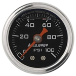 Auto Meter 2174 Auto Gage Mechanical Pressure Gauge, 1-1/2 Inch, 0-100