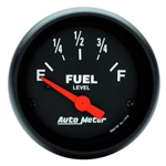 Auto Meter 2643 Z-Series Air-Core Fuel Level Gauge, 2-1/16 Inch