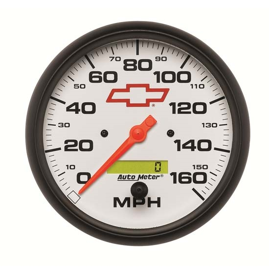 Auto Meter 5889-00406 GM White Air-Core Speedometer Gauge, 5 Inch