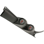 Auto Meter 7081 Z-Series Dual Gauge Pillar Kit, 2000-07 GM Duramax