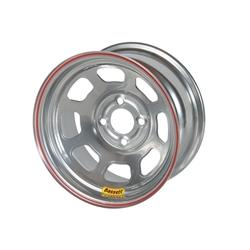 Bassett D58DH475S 15x8 Dot D-Hole Wheel, 4 on 100mm, 4-3/4 Backspace