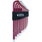Titan Tools 12713 Extra Long Detent Ball-End Hex Key Set, SAE Sizes