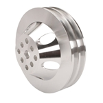 Small Block Chevy Billet Aluminum Water Pump Pulley, 6-7/8 Inch O.D.