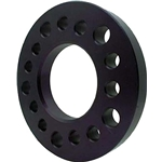 Aluminum Wheel Spacer, 1/4 Inch Thick, Black Anodized
