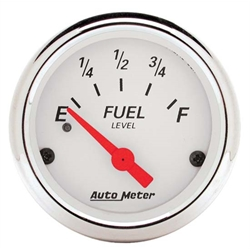 Auto Meter 1317 Arctic White Air-Core Fuel Level Gauge