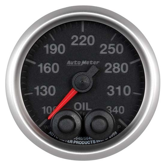 Auto Meter 5640 Elite Digital Stepper Motor Oil Temperature Gauge