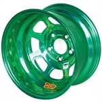 Aero 52-984510GRN 52 Series 15x8 Wheel, 5 on 4-1/2 BP, 1 Inch BS IMCA