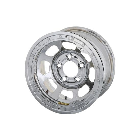 Bassett 57R52CL 15X7 Dot D-Hole 5 on 5 2 Inch BS Chrome Beadlock Wheel
