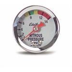 Edelbrock 73800 Nitrous System Fuel Pressure Gauge, 0-1,400 psi