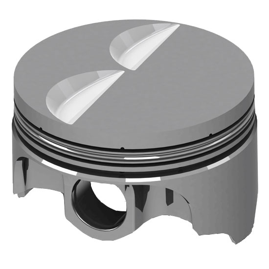 Icon Racing IC957 040 Chevy 305 Forged Pistons Flat Top 5