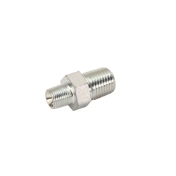 Steel Adapter Fitting, 1/8 Inch Male to 1/4 Inch Male NPT