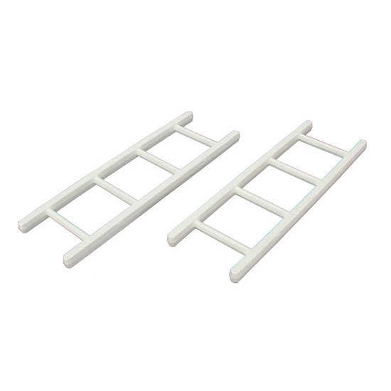 Pedal Car Parts, White 4-Rung Ladder
