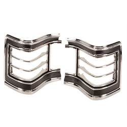 Dynacorn M1381B 1967 Chevelle Tail Light Bezels, Pair