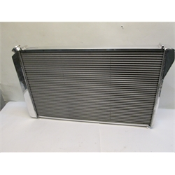 Garage Sale - AFCO Direct Fit 1982-92 Camaro Polished Aluminum Radiator, With Trans Cooler