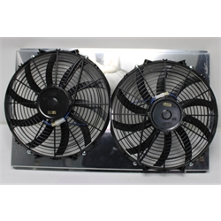 Garage Sale - AFCO Direct Fit Dual Cooling Fan and Shround Assembly, 1982-92 Camaro, Polished