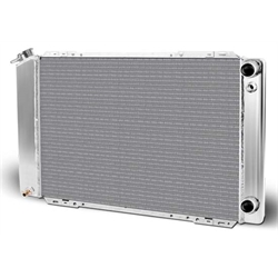 AFCO 80109NLS Fox Body Mustang Aluminum Double Pass Radiator, Chevy LSX