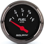Auto Meter 1415 Designer Black Air-Core Fuel Level Gauge, 2-1/16 Inch