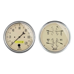 Auto Meter 1803 Antique Beige Air-Core 2 Piece Gauge Kit
