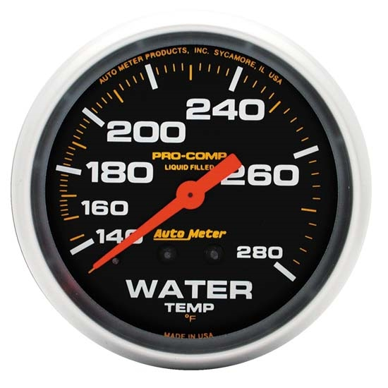 Auto Meter 5431 Pro-Comp Mechanical Water Temperature Gauge