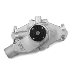 Weiand 9221 Team G Aluminum Water Pump w/Twisted Snout design, Adj.